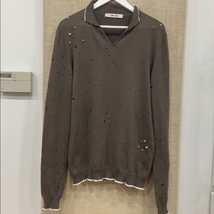 Amazingly distressed and beaded knit